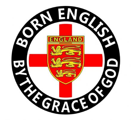 """Born English"" Round England  Sticker"